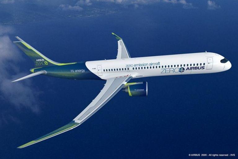 Το 2035 θα πετάξει το πρώτο αεροπλάνο με υδρογόνο   tovima.gr