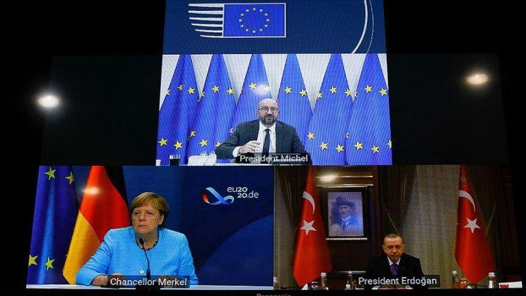 Ερντογάν προς Μέρκελ – Μισέλ: Είμαστε έτοιμοι για διάλογο | tovima.gr