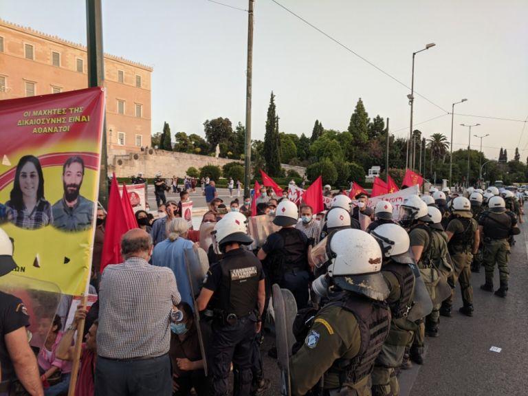 Σύνταγμα: Ένταση σε διαδήλωση υπέρ των απεργών πείνας στην Τουρκία   tovima.gr