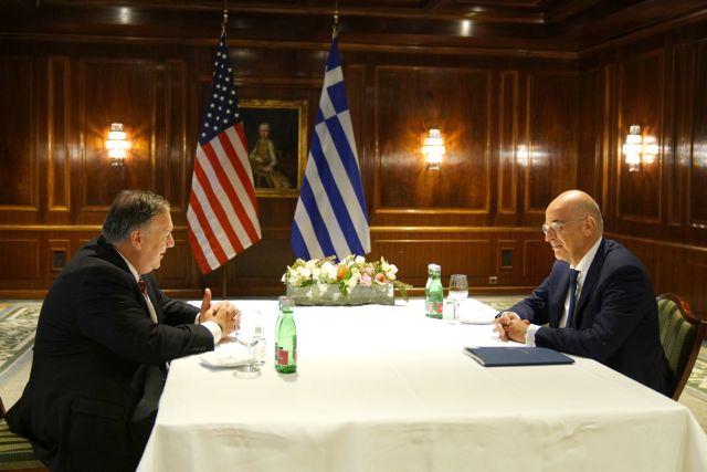 Συνάντηση Δένδια – Πομπέο : Διαρκώς ενισχυόμενη η εταιρική σχέση Ελλάδας – ΗΠΑ | tovima.gr