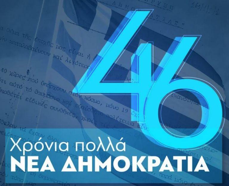 Ο Μητσοτάκης για τα 46 χρόνια από την ίδρυση της Ν.Δ. | tovima.gr