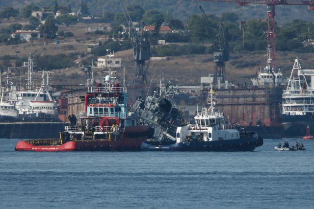 «Καλλιστώ» : Πώς το γιγαντιαίο φορτηγό πλοίο έκοψε στα δύο το ναρκοθηρευτικό | tovima.gr