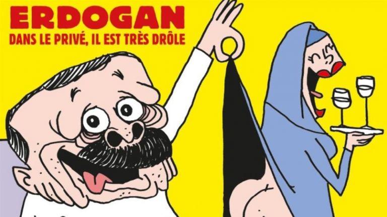 Το Charlie Hebdo «ξεγυμνώνει» τον Ερντογάν – Το αιχμηρό σκίτσο κατά του σουλτάνου | tovima.gr