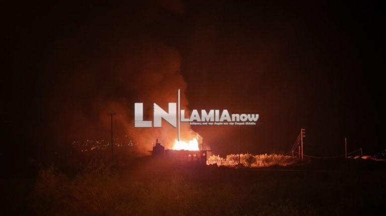 Λαμία: Στις φλόγες αποθήκη με φιάλες υγραερίου | tovima.gr