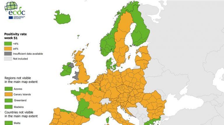 Κορωνοϊός : Πρώτη χαραμάδα αισιοδοξίας – «Πράσινη» η Ελλάδα στον χάρτη θετικότητας | tovima.gr