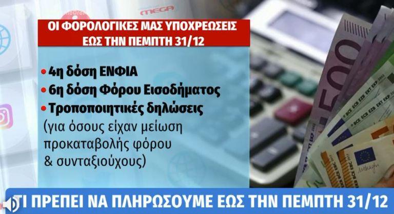 Τι πληρώνεται μέχρι τέλος Δεκέμβρη – Τι γίνεται με ΙΧ και ιδιοκτήτες ακινήτων   tovima.gr