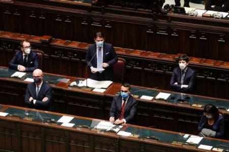 Ιταλία – Βουλή: Ψήφος εμπιστοσύνης στον Κόντε – Στην αυριανή ψηφοφορία της Γερουσίας τα δύσκολα