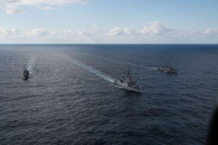 Συνεκπαίδευση ελληνικών μονάδων με τη Συμμαχική Ναυτική Δύναμη SNMG2 στη θαλάσσια περιοχή της Κρήτης