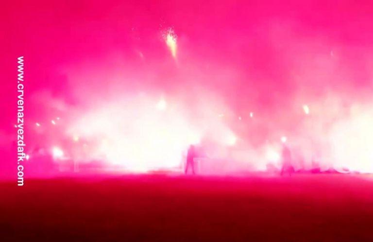 Oπαδοί του Ερυθρού Αστέρα έβαλαν «φωτιά» στην προπόνηση της ομάδας | tovima.gr
