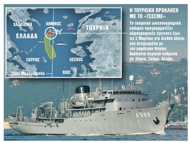 Τα τουρκικά παιχνίδια με τον 25ο μεσημβρινό και η πρόκληση του Τσεσμέ   tovima.gr