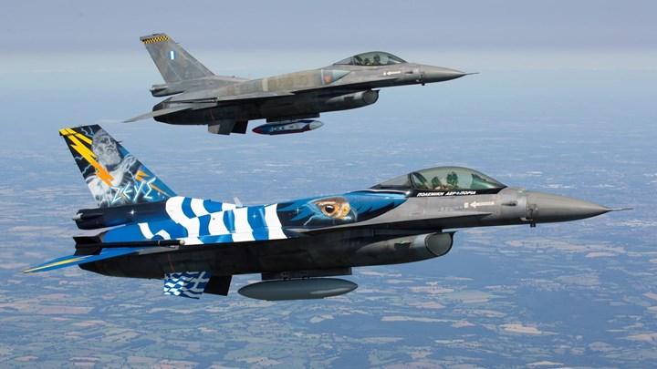 Ελληνικά F-16 πέταξαν πάνω από τα Σκόπια για τον ένα χρόνο από την ένταξη στο ΝΑΤΟ | tovima.gr