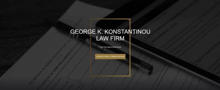 GEORGE K. KONSTANTINOU LAW FIRM: Their new website is now available in 4 languages | tovima.gr