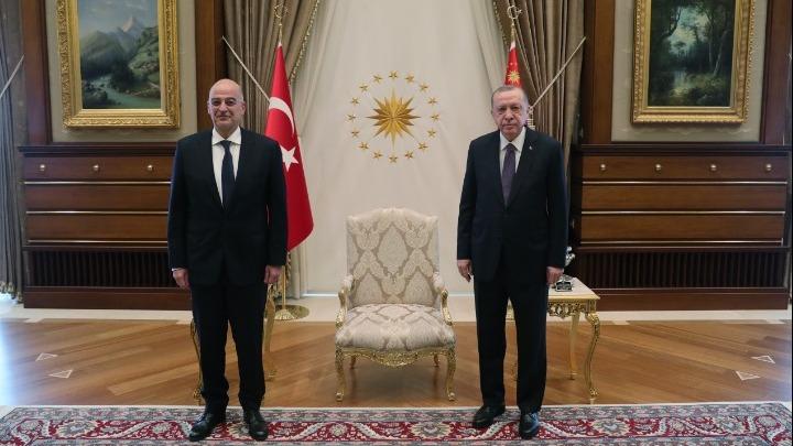 Τουρκία : Kρίσιμο τετ α τετ Δένδια – Ερντογάν από τη συνάντηση με Τσαβούσογλου | tovima.gr