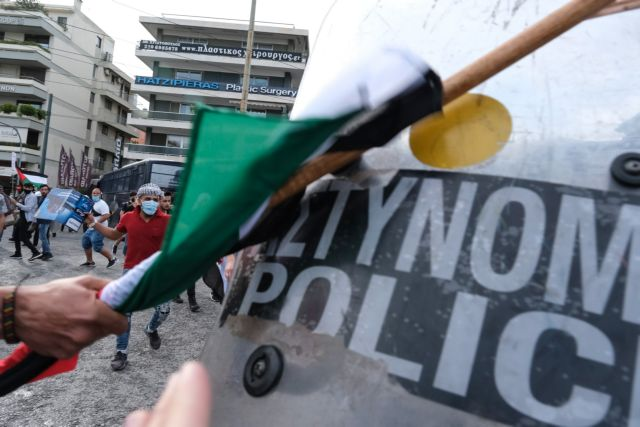 Πρεσβεία Ισραήλ: Ένταση και χημικά στην πορεία αλληλεγγύης στην Παλαιστίνη   tovima.gr
