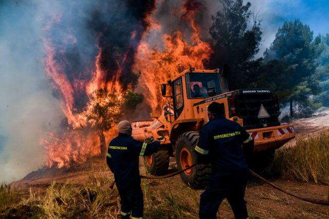 Φωτιά στα Γεράνεια Όρη: Βίντεο ντοκουμέντο με πυροσβέστες και πολίτες εγκλωβισμένοι στις φλόγες   tovima.gr