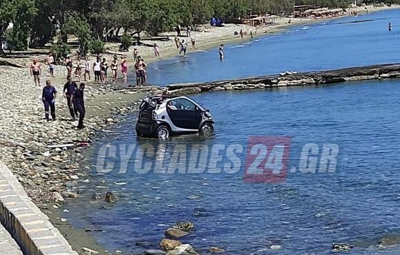 Τήνος: Βούτηξε με το αυτοκίνητο στη θάλασσα για να αποφύγει τη σύλληψη | tovima.gr