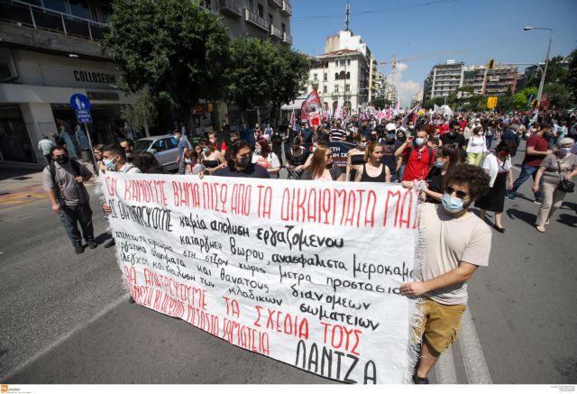 Πορείες και στη Θεσσαλονίκη – Στους δρόμους κατά του εργασιακού ν/σ | tovima.gr