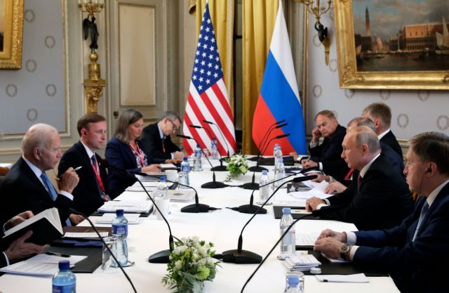 Ολοκληρώθηκε η μαραθώνια συνάντηση Μπάιντεν-Πούτιν στη Γενεύη | tovima.gr