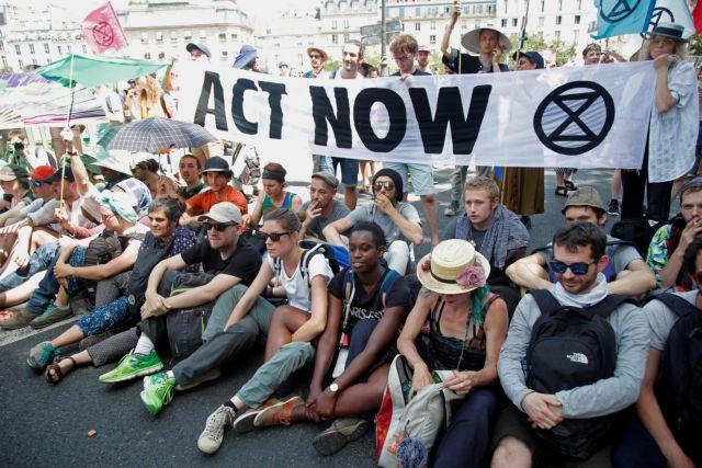 Παρίσι: Κινητοποίηση ακτιβιστών κατά της Κλιματικής Αλλαγής | tovima.gr