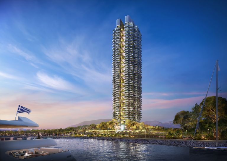 Marina Tower: Ο πρώτος πράσινος ουρανοξύστης στη μαρίνα του Άγιου Κοσμά | tovima.gr
