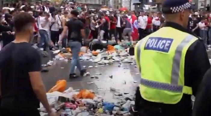 Euro 2020: Επεισόδια στο Λονδίνο μετά τον τελικό με 45 συλλήψεις | tovima.gr
