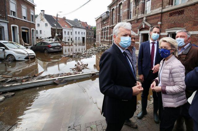 Στις πληγείσες από τις πλημμύρες περιοχές του Βελγίου η φον ντερ Λάιεν | tovima.gr