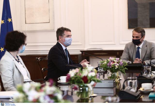Μητσοτάκης σε πρόεδρο Eurogroup: Στόχος η ανάπτυξη με καινοτομία, επενδύσεις, εξαγωγές, όχι κατανάλωση | tovima.gr