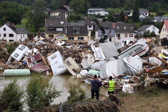 Γερμανία: Τεράστιες καταστροφές από τις πλημμύρες – Καταστράφηκαν 600 χιλιόμετρα γραμμών | tovima.gr