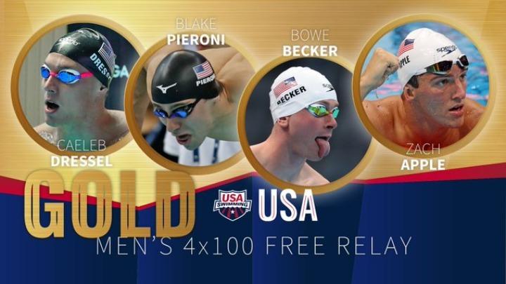 Οι ΗΠΑ το χρυσό στα 4Χ100 μ. ελεύθερο ανδρών   tovima.gr