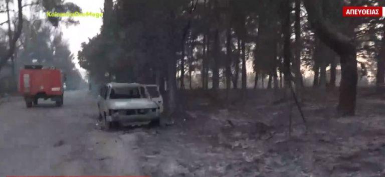 Βαρυμπόμπη – Εικόνες απόλυτης καταστροφής μετά την πυρκαγιά   tovima.gr