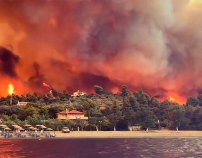 Φωτιά Εύβοια – Ασύλληπτες εικόνες από τον πύρινο εφιάλτη – Ολιγωρία καταγγέλουν τοπικοί άρχοντες | tovima.gr