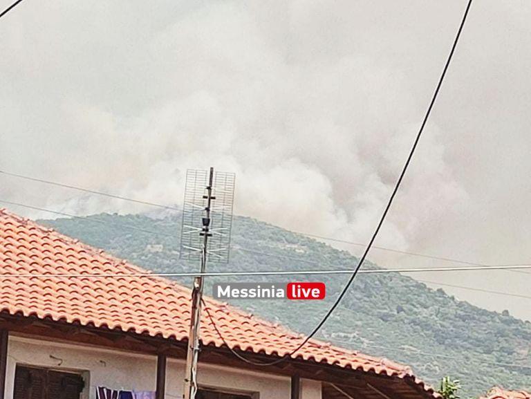 Μεσσηνία – Η φωτιά πλησιάζει προς το χωριό Καρνάσι – Δραματικές στιγμές   tovima.gr