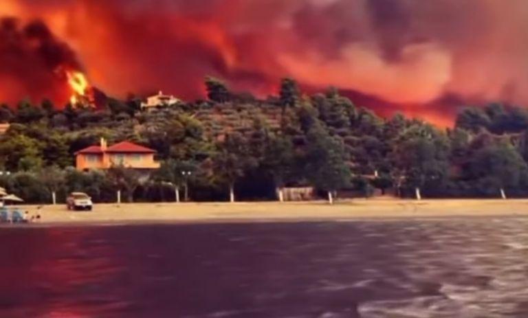 Φωτιά στην Εύβοια – Εκτός ελέγχου το πύρινο μέτωπο – Εκκενώνονται κι άλλα χωριά   tovima.gr