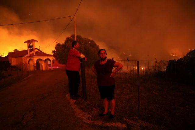 Μαλακάσα – Οι φλόγες πέρασαν την εθνική προς Ωρωπό – Ζητούνται εκκενώσεις   tovima.gr