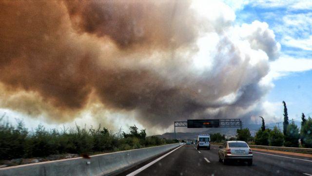 Φωτιές – Χωρίς διόδια η Αττική Οδός – Ποιοι δρόμοι του Λεκανοπεδίου παραμένουν κλειστοί   tovima.gr
