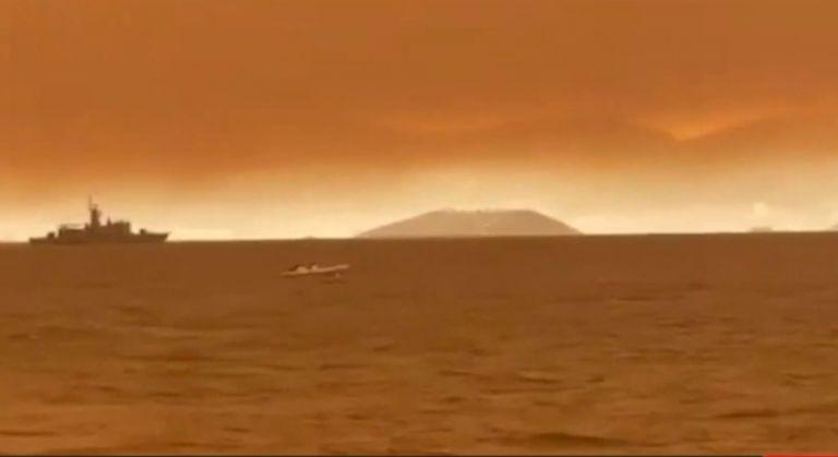 Φωτιά στην Εύβοια – «Καίγεται» η θάλασσα – Το in.gr στο Πευκί | tovima.gr