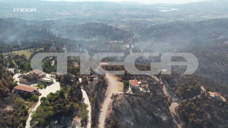 Βιβλική καταστροφή στην Αττική – Το drone του MEGA στις καμένες εκτάσεις | tovima.gr