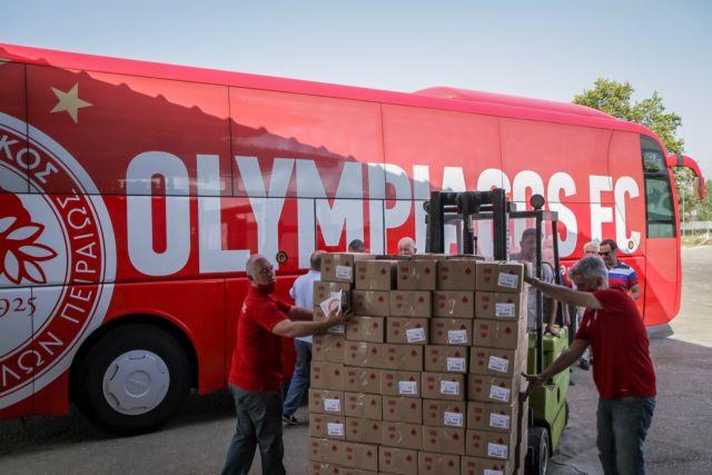 Ολυμπιακός – Αποστολή αλληλεγγύης στους πυροπαθείς της Ηλείας | tovima.gr