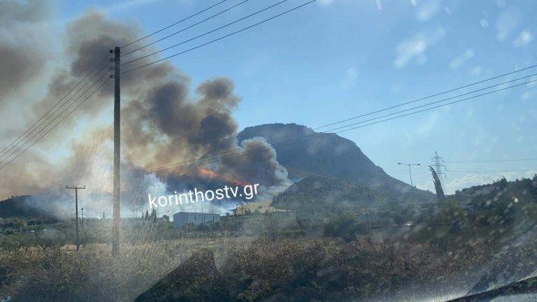 Φωτιά στην Αρχαία Κόρινθο – Μάχη για να μη φτάσουν οι φλόγες στο δάσος – Μήνυμα εκκένωσης από το 112 | tovima.gr