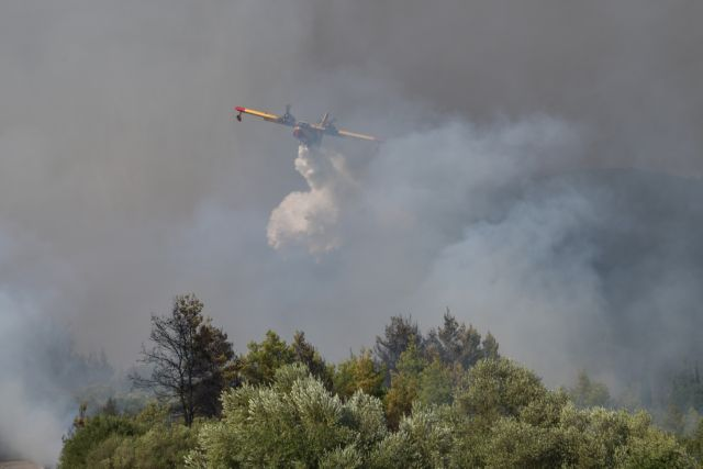 Vilia- Forest fire – Settlements evacuated   tovima.gr