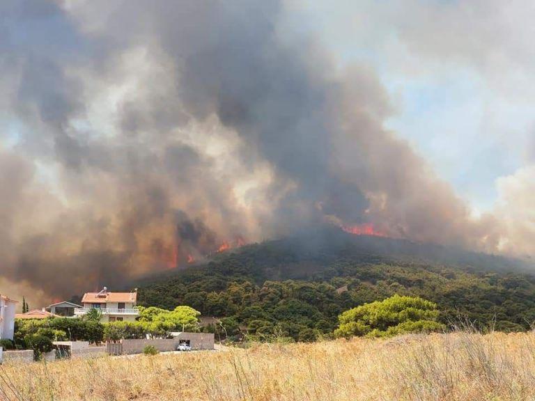 Κερατέα – Συγκλονίζουν οι εικόνες από το πύρινο μέτωπο | tovima.gr