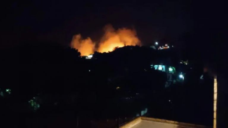 New fire overnight at Keratea – Flares fired into the forest | tovima.gr