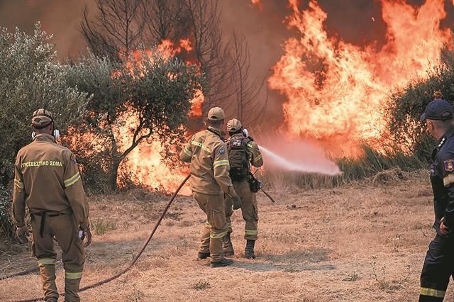 Στο έλεος της φωτιάςη χώρα   tovima.gr