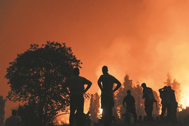 Το χρονικό της μάχης με τη φωτιά στην Εύβοια | tovima.gr