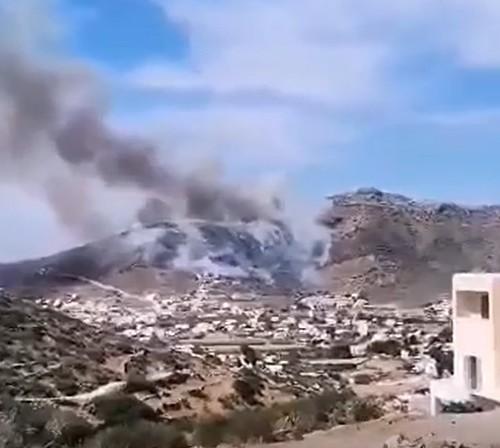 Φωτιά στην Ίο [εικόνες & βίντεο] | tovima.gr