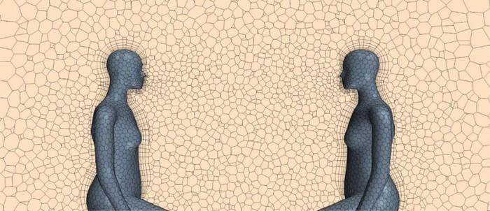 Μέσα στους κλειστούς χώρους η απόσταση των δύο μέτρων, όταν δεν φοράμε μάσκα, δεν είναι ικανή να μας προστατεύσει από το αερόλυμα που φέρει ιικά σωματίδια, σύμφωνα με τη νέα μελέτη (Donghyun Rim, Penn State)