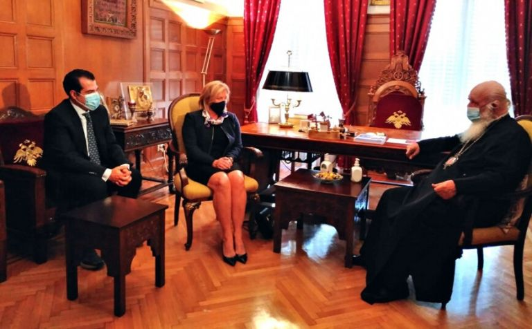 Archbishop, health minister discuss cooperation on COVID-19 epidemic, vaccination   tovima.gr