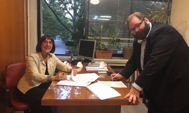 Μνημόνιο Συνεργασίας Νομικής Σχολής Πανεπιστημίου Λευκωσίας και ΕΔΔΟΕ Αριστοτέλειου Πανεπιστημίου   tovima.gr