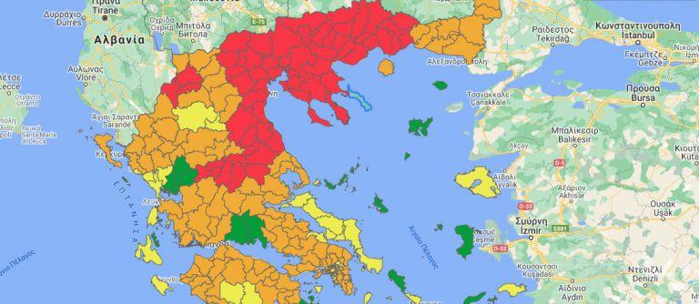Κορωνοϊός – Αλλαγές στον επιδημιολογικό χάρτη – Ποιες περιοχές μπήκαν στο κόκκινο και ποιες πρασίνισαν   tovima.gr